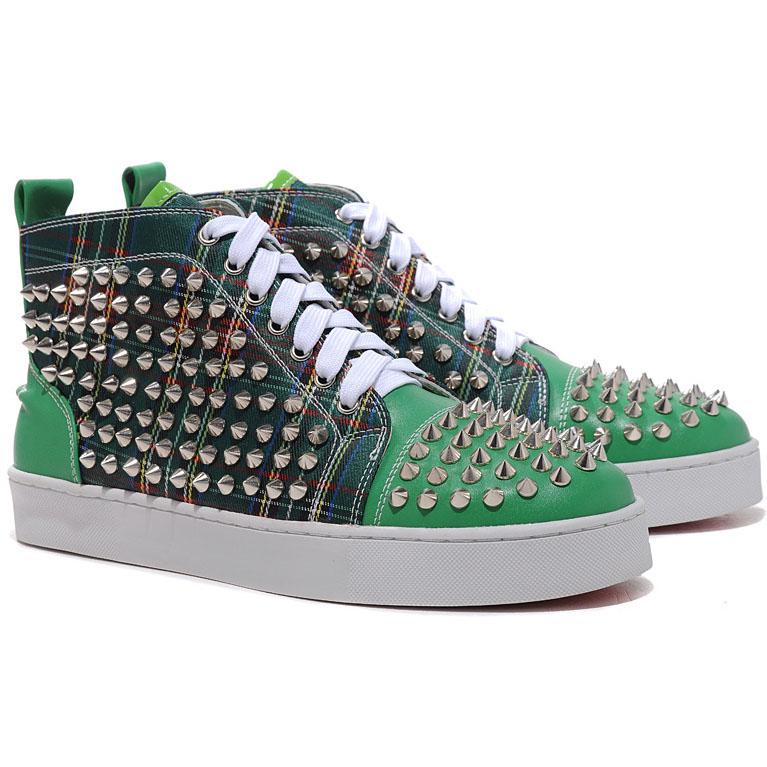 Christian Louboutin Rantus Orlato Sneakers Blue Christian Louboutin Louis  Spikes Sneakers Green